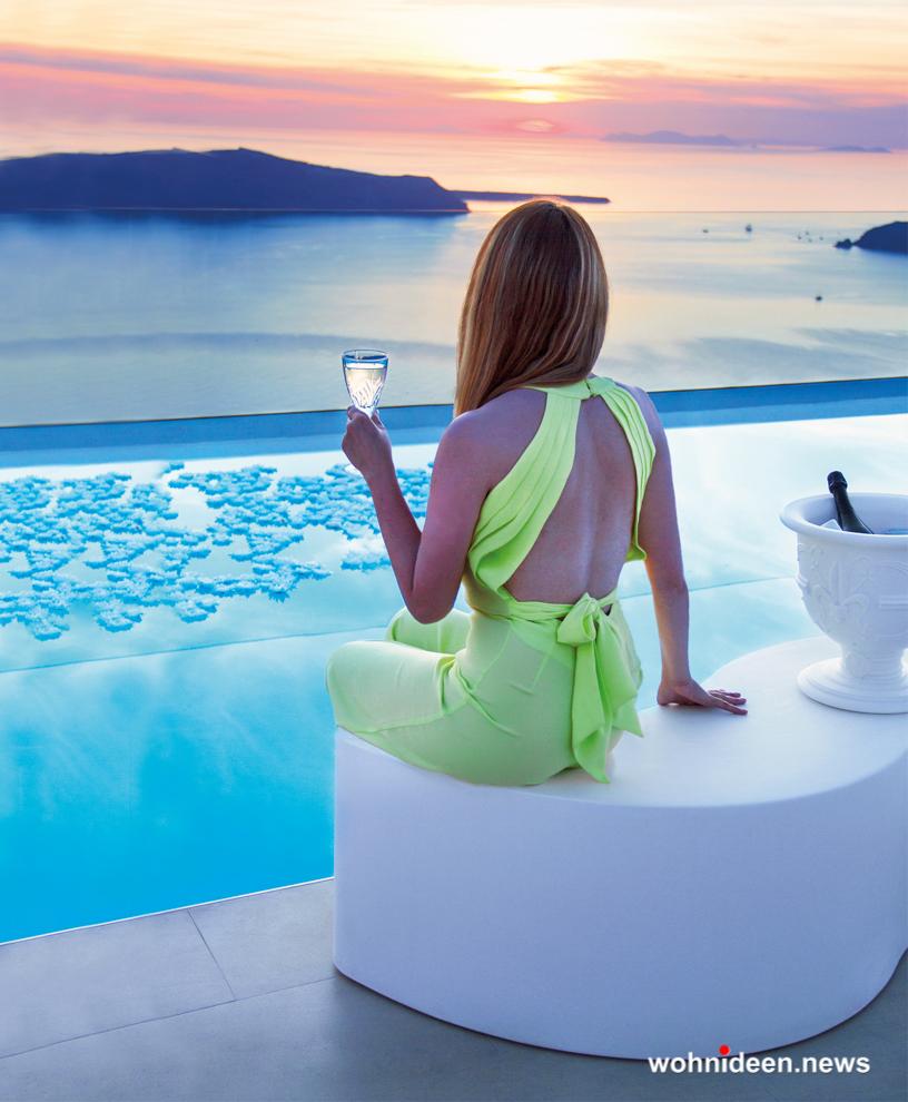 loungemöbel gartenmöbel bench wave 3 - Hochwertige beleuchtete Outdoor Loungemöbel