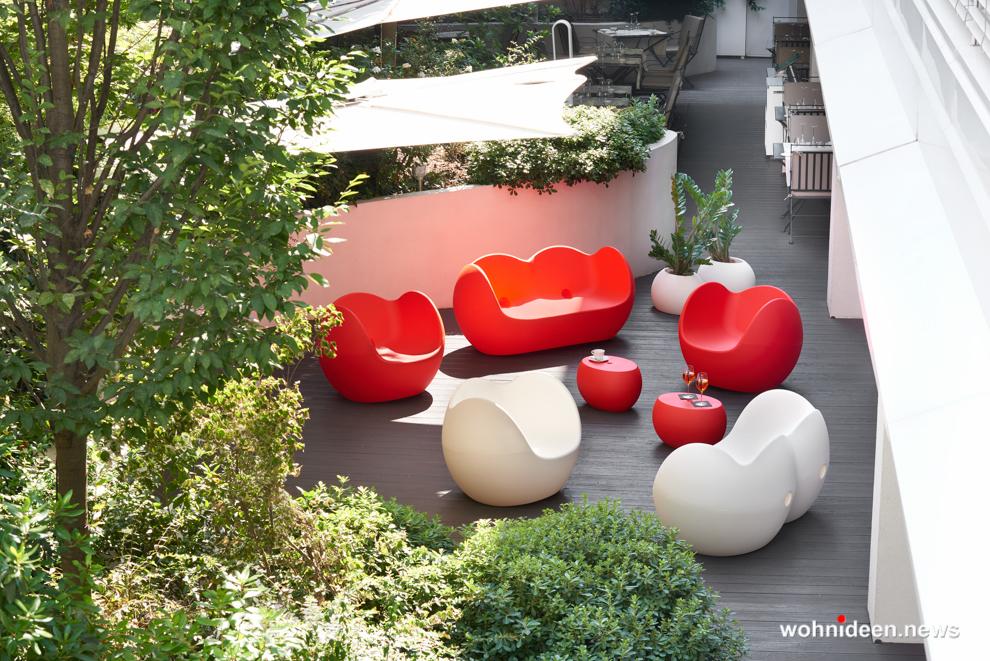 loungemöbel gartenmöbel blos pot 2 - LED Möbel, beleuchtete Möbel, Leuchtmöbel