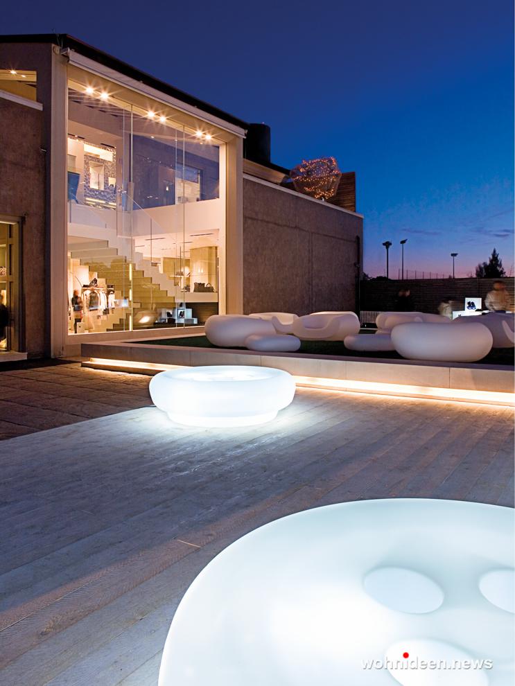 loungemöbel gartenmöbel bot one pouf 2 - LED Möbel, beleuchtete Möbel, Leuchtmöbel