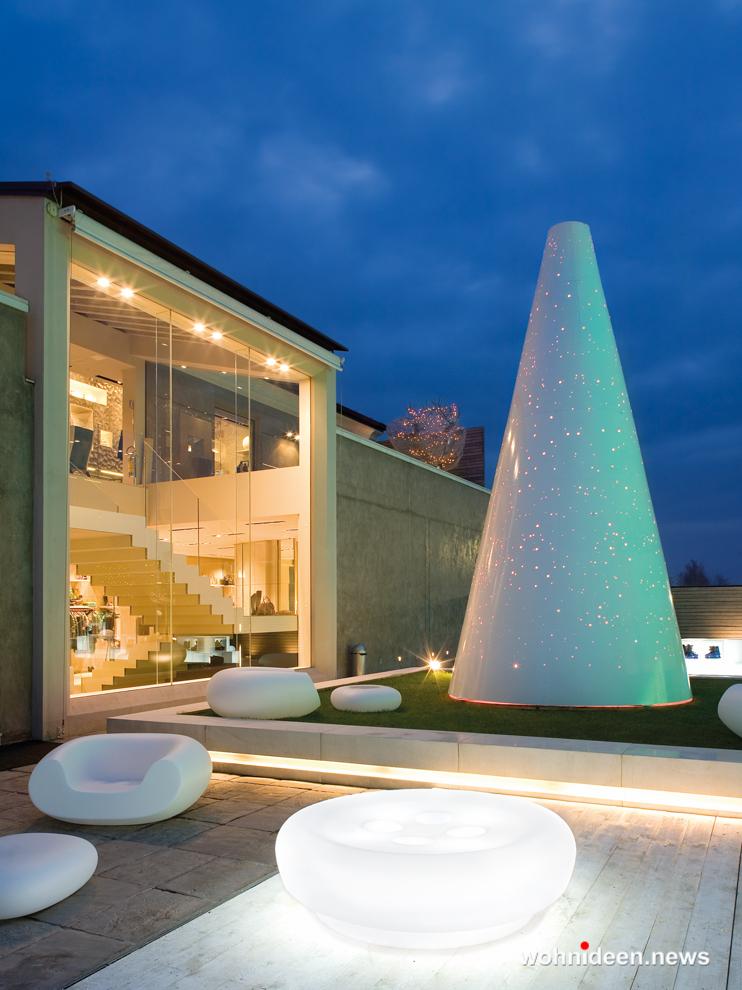 loungemöbel gartenmöbel bot one pouf - LED Möbel, beleuchtete Möbel, Leuchtmöbel