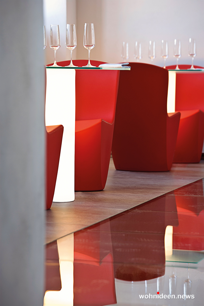 loungemöbel gartenmöbel chair zoe 4 - LED Möbel, beleuchtete Möbel, Leuchtmöbel