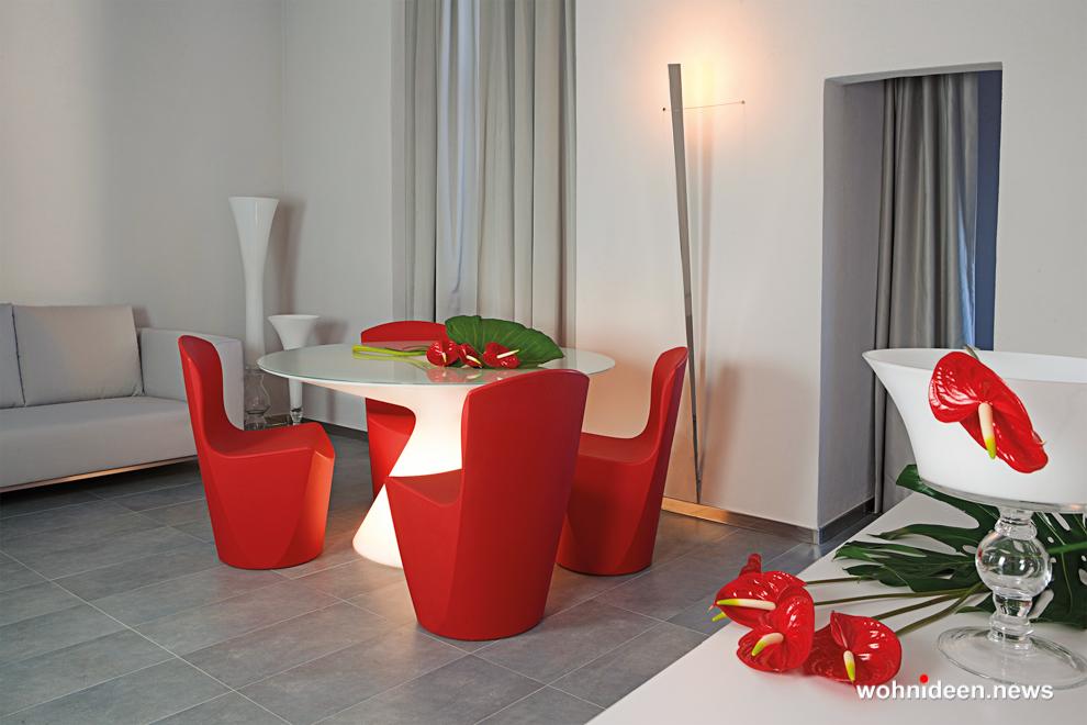 loungemöbel gartenmöbel chair zoe 5 - LED Möbel, beleuchtete Möbel, Leuchtmöbel