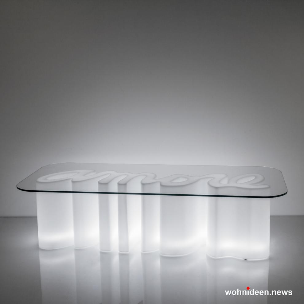 loungemöbel outdoor amore table lighting light white sfondo - Beleuchtete Loungemöbel & Beleuchtete Outdoor Möbel