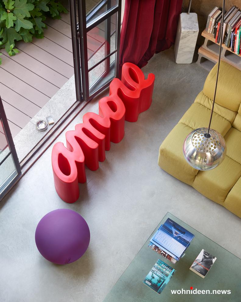 loungemöbel outdoor beanch amore 1 - Kunststoffmöbel Lounge Möbel aus Kunststoff