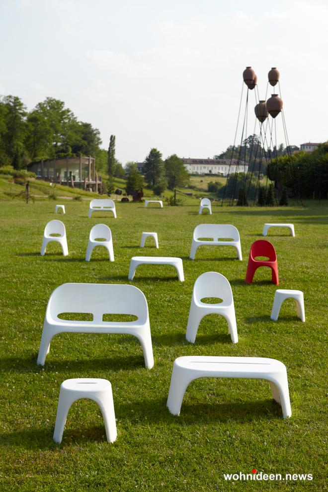 loungemöbel outdoor bench amelie duetto 2 - Kunststoffmöbel Lounge Möbel aus Kunststoff
