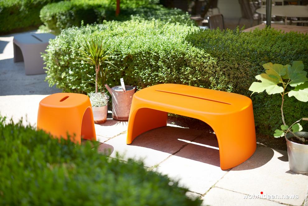 loungemöbel outdoor bench amelie panchetta 5 - Kunststoffmöbel Lounge Möbel aus Kunststoff