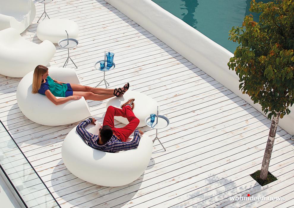 loungemöbel outdoor wetterfest pouf chubby low 3 - Traumhafte Loungemöbel Gartenmöbel