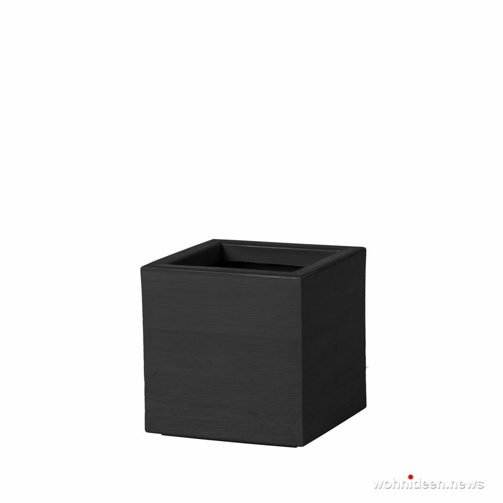 quadratische vasen schwarz - Ausgefallene Blumentöpfe und Vasen für draußen