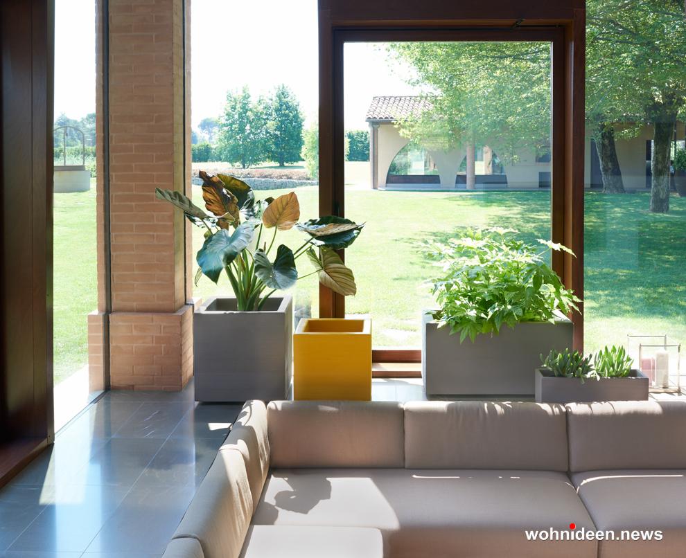 recheckige vasen für das wohnzimmer - Ausgefallene Blumentöpfe und Vasen für draußen