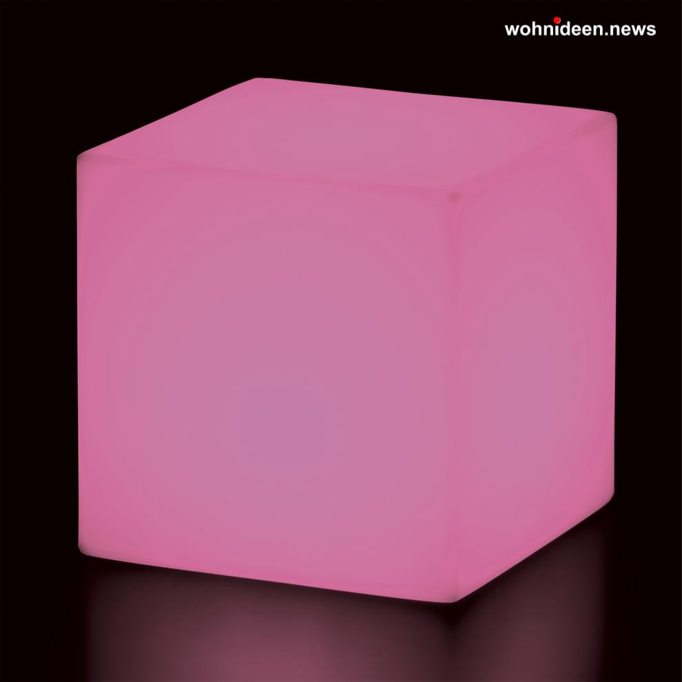 rosa flieder leuchtwürfel slide cubo led - LED Möbel + Beleuchtete Möbel + Leuchtmöbel Shop