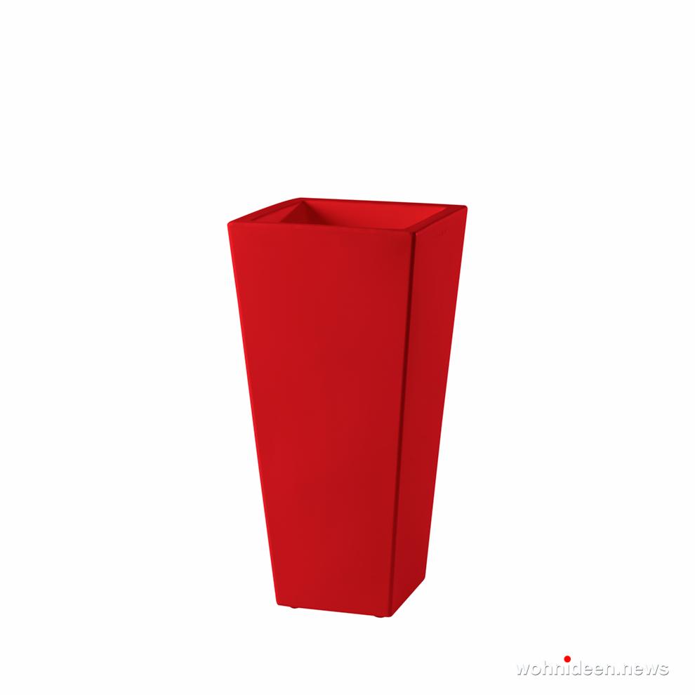 rote eckige vasen große vase für garten - Ausgefallene Blumentöpfe und Vasen für draußen
