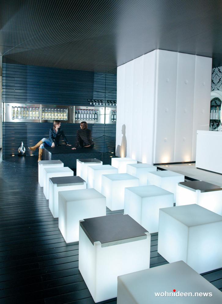 sitzwürfel beleuchtet Slide slide cubo - Sitzwürfel beleuchtet Hocker Leuchtwürfel