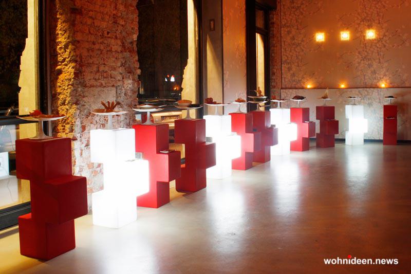 sitzwürfel für draussen beleuchtet - Sitzwürfel beleuchtet Hocker Leuchtwürfel
