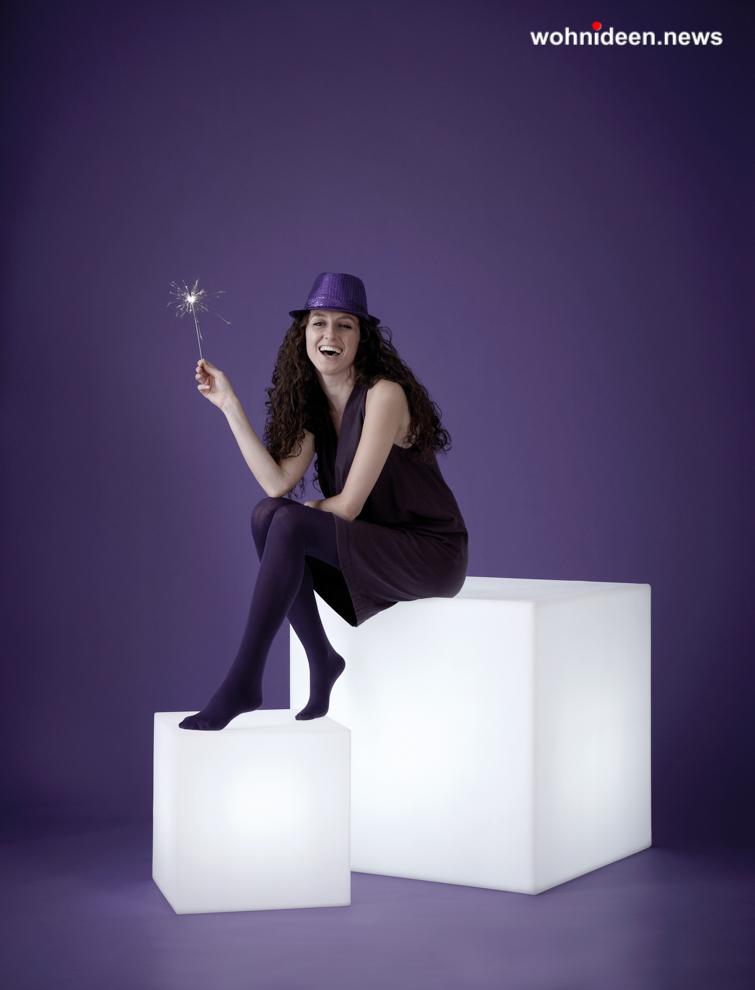 slide cubo 1 leuchtmöbel - Leuchtwürfel Sitzwürfel Hocker beleuchtet