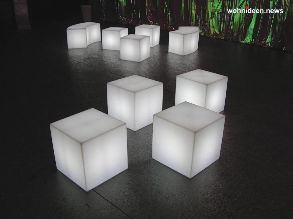 slide cubo 2 leuchtmöbel - Leuchtwürfel Sitzwürfel Hocker beleuchtet