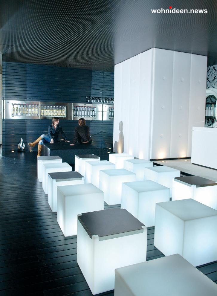 slide cubo 3 leuchtmöbel - Leuchtwürfel Sitzwürfel Hocker beleuchtet