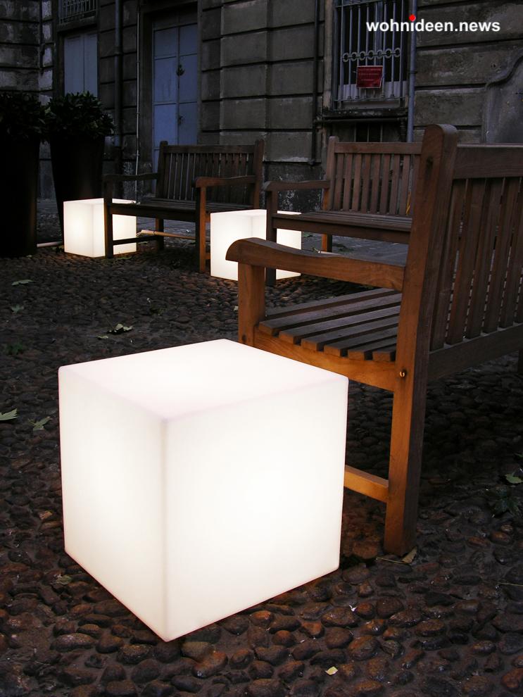 slide cubo 4 leuchtmöbel - Leuchtwürfel Sitzwürfel Hocker beleuchtet