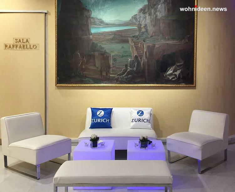 slide ele light galleria events Hotel Roma Cavalieri Hilton 5 leuchtmöbel - Leuchtwürfel Sitzwürfel Hocker beleuchtet