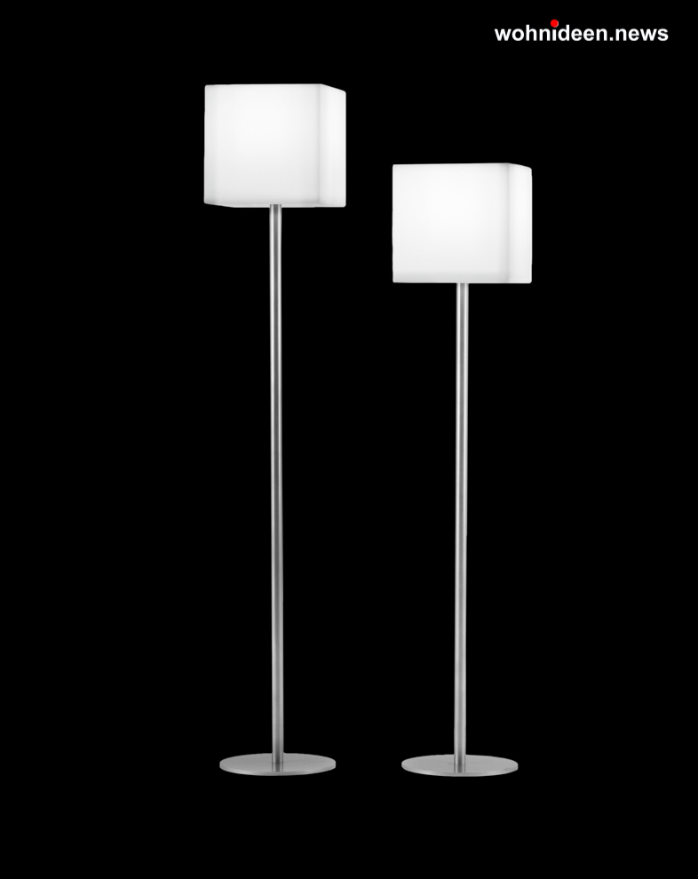 slide piantana cubo leuchtmöbel - Leuchtwürfel Sitzwürfel Hocker beleuchtet