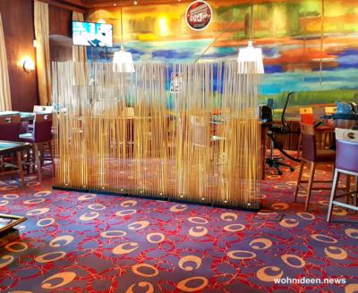 Bambus als Sichtschutz für Terasse und Balkon Bambus - Bambus Büro Sichtschutz Sunshine Gastronomie