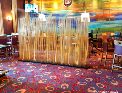 Bambus Büro Sichtschutz Sunshine Gastronomie