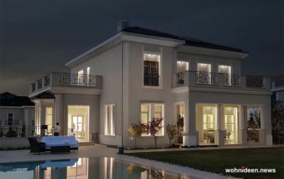 Fassaden Beleuchtung für private Häusser Aussenbeleuchtung - Outdoor Fassadenbeleuchtung RGB - LED-Gebäudebeleuchtung