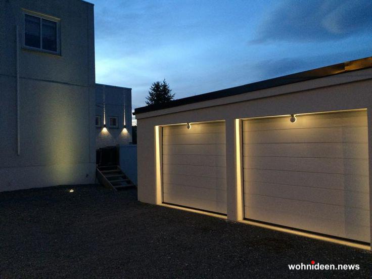 Fassadenbeleuchtung Garagenbeleuchtung - Outdoor Fassadenbeleuchtung RGB - LED-Gebäudebeleuchtung