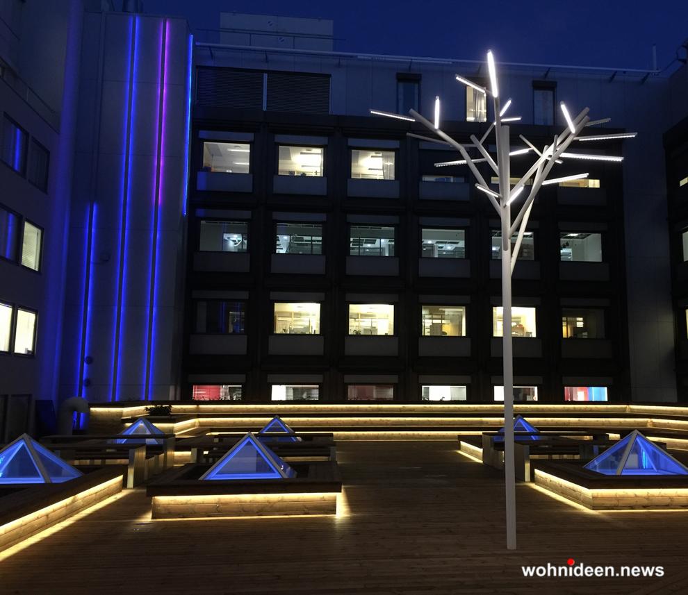 Terrassenbeleuchtung - Outdoor Fassadenbeleuchtung RGB - LED-Gebäudebeleuchtung