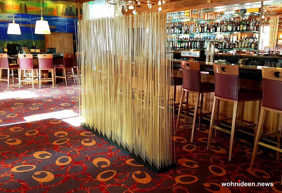 bambus Ideen - Bambus Büro Sichtschutz Sunshine Gastronomie