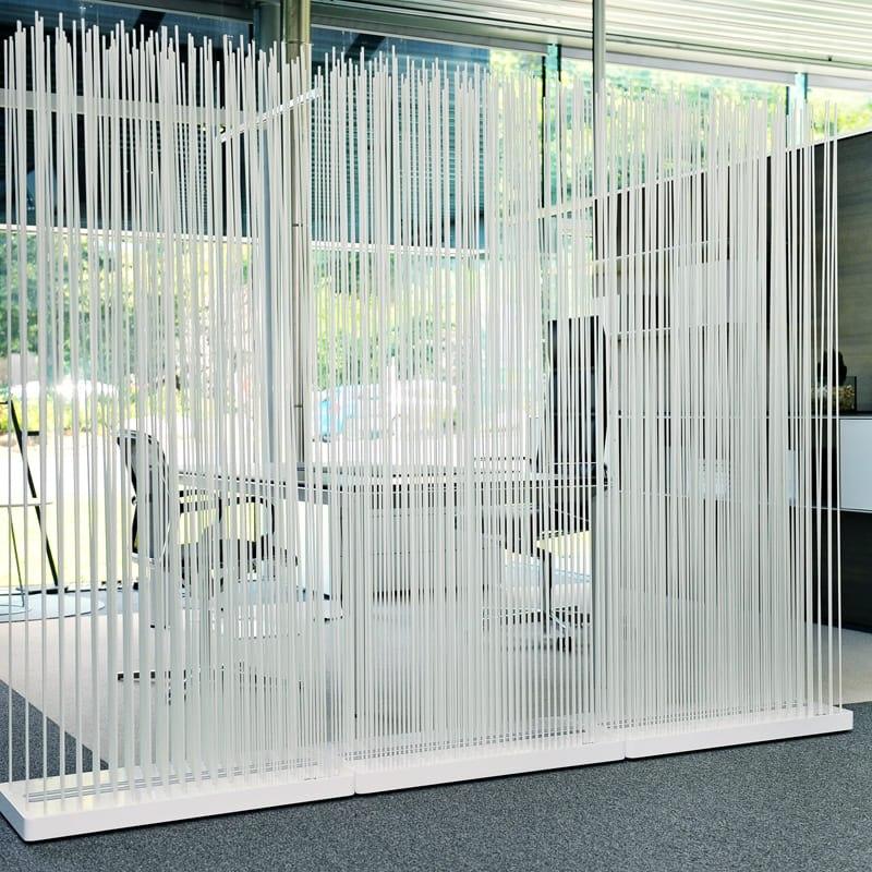 Büro Sichtschutz Ideen Trennwand Raumteiler Paravent weiss - Mobile Raumteiler Ideen