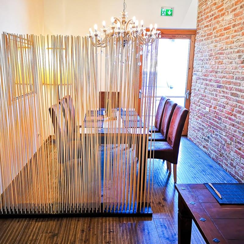 Bambus Raumteiler Paravent Ideen für Restaurant - Mobile Raumteiler Ideen