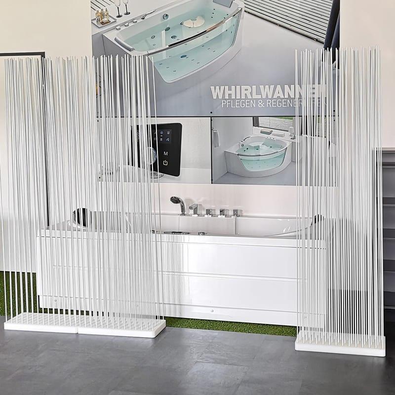 Sauna Sichtschutz Sauna Raumteiler Paravent Ideen - Mobile Raumteiler Ideen