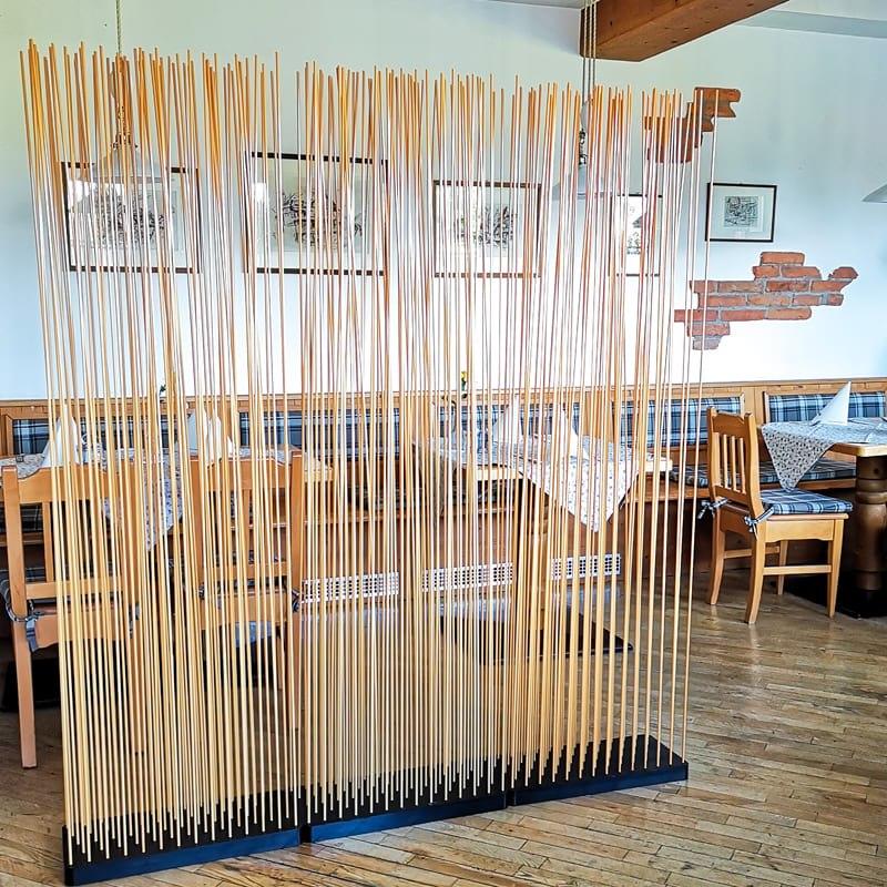 Sichtschutz Bambus Raumteiler Paravent Bambus - Mobile Raumteiler Ideen