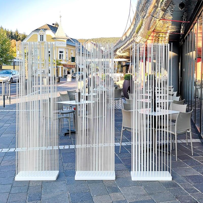 Sichtschutz Raumteiler Paravent Terrasse und Balkon - Mobile Raumteiler Ideen