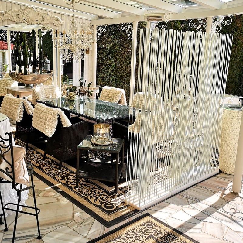 Terrasse Sichtschutz Terrasse Raumteiler Terrasse Paravent weiss - Mobile Raumteiler Ideen