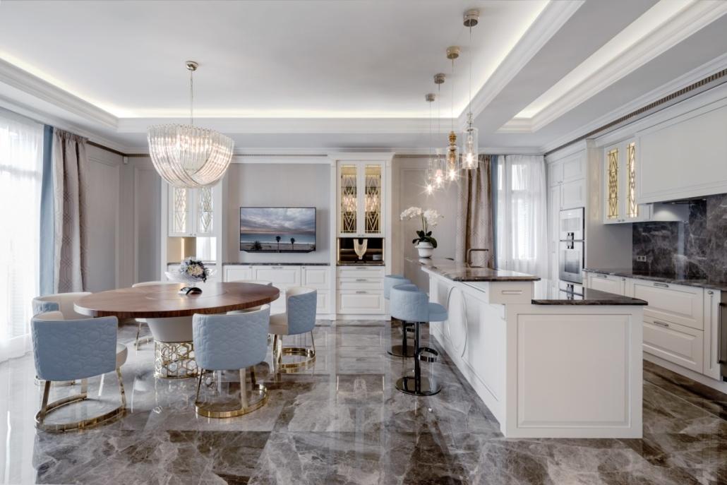 kücheninsel 1030x687 - Luxuswohnung Einrichtungsideen