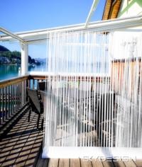 Balkongestaltung Weißer Sichtschutz - Balkongestaltung: Skydesign Sichtschutzzaun mit modernem Flair