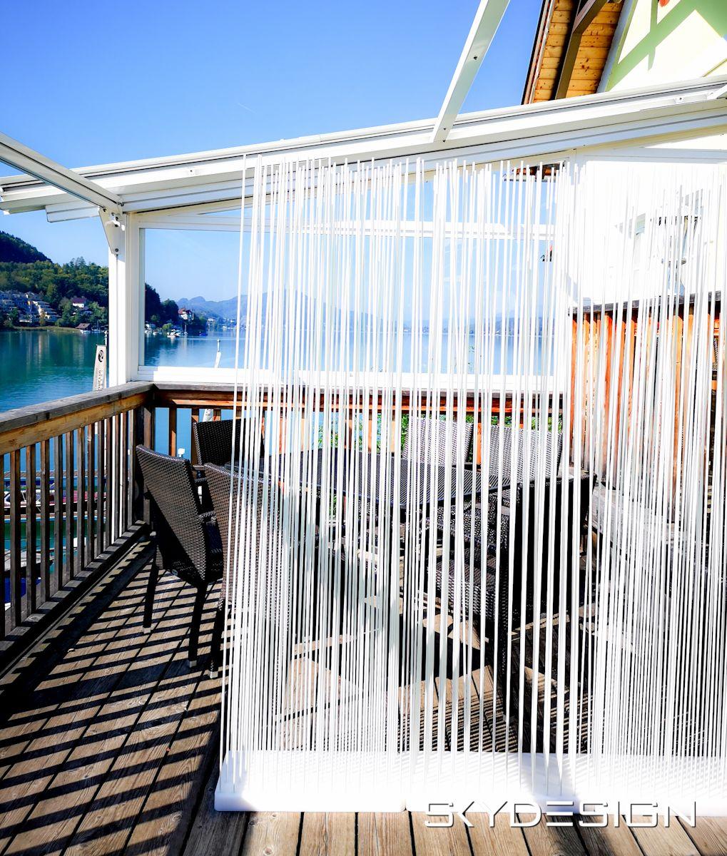 Balkongestaltung Weißer Sichtschutz - Home