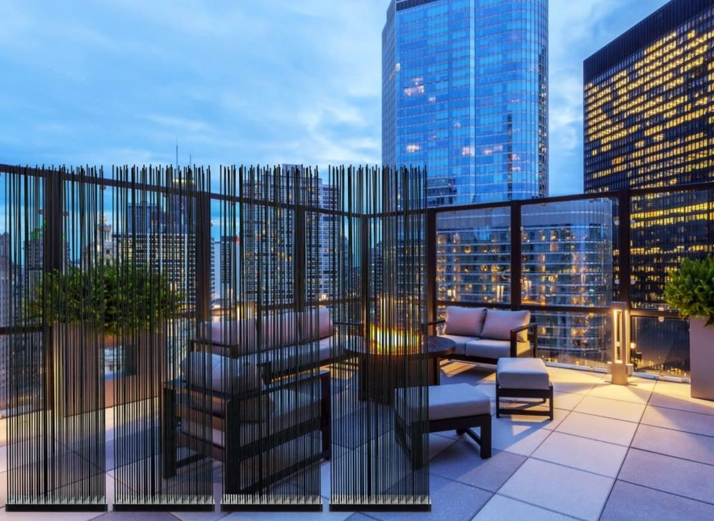 mobilder sichtschutz terrasse modern freistehend