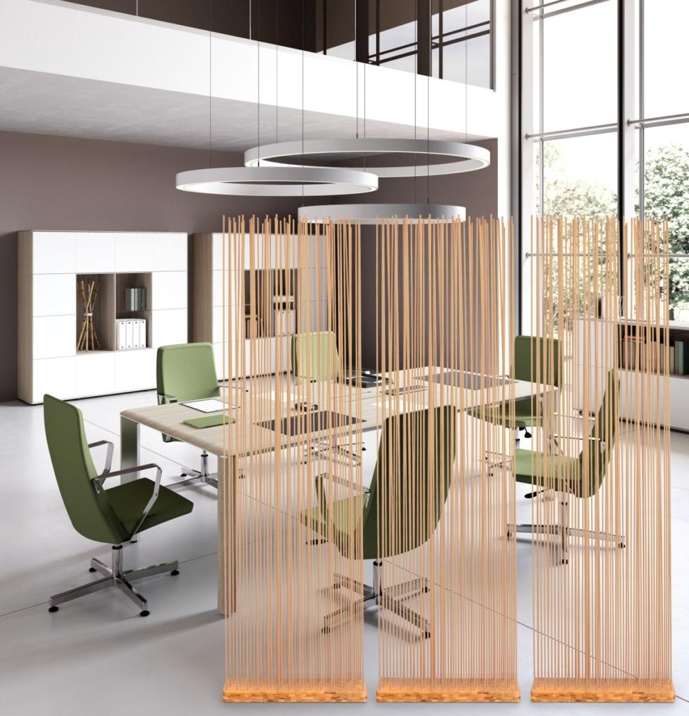 Naturfarben Sichtschutz Büroeinrichtung Besprechungstisch 991x1030 - Büroeinrichtung modern | Individuelle Premium Möbel