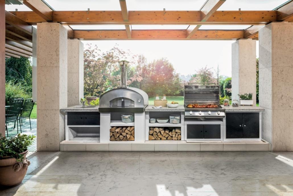 Palazzetti Cookie cucina modulare da esterno Outdoor Küche 1030x687 - Outdoor Küchen | Zusammensein unter freiem Himmel