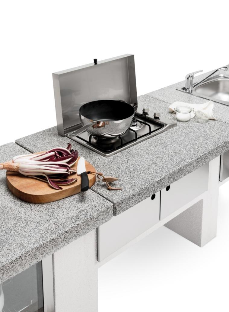 Palazzetti cucina modulare da esterno Cookie modulo Gas grigio DSC9458 02 2019 Outdoor Küche 759x1030 - Outdoor Küchen | Zusammensein unter freiem Himmel