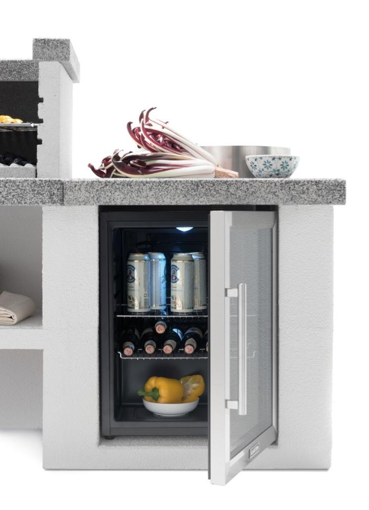 Palazzetti cucina modulare da esterno Cookie modulo frigo DSC9362 02 2019 Outdoor Küche 745x1030 - Outdoor Küchen | Zusammensein unter freiem Himmel
