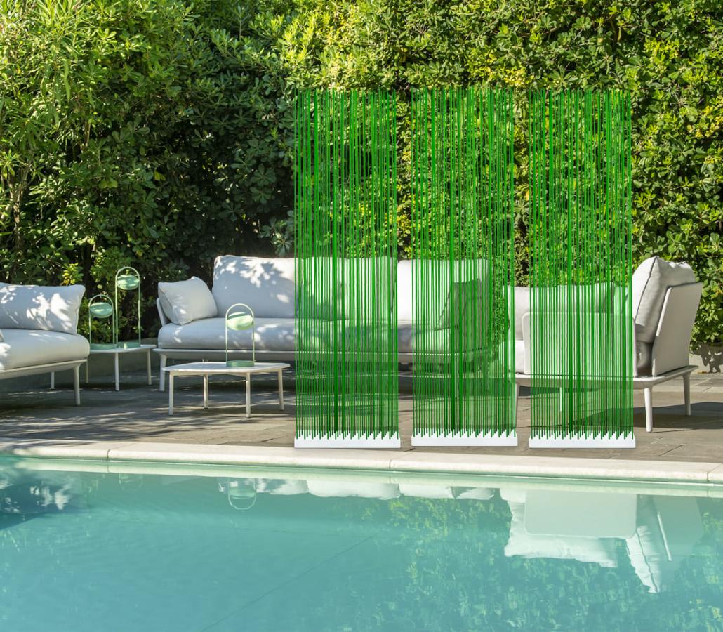 Poolmöbel Sichtschutz in Grün für den Garten und Pool 1030x900 - Sichtschutz für den Garten und für die Terrasse