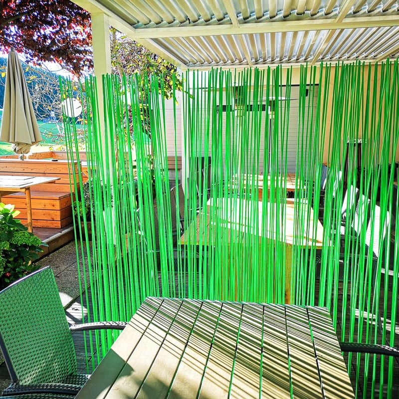 Grüner Sichtschutzzaun