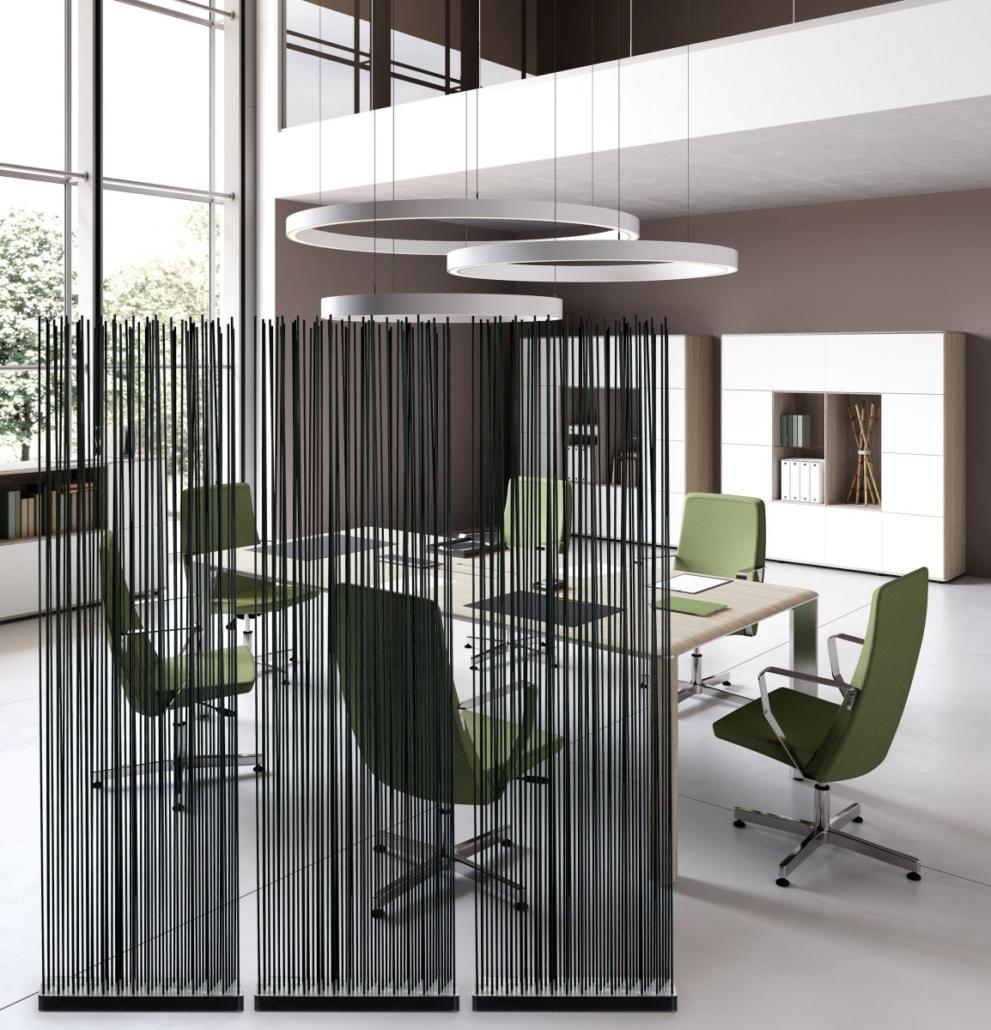 Sichtschutz für Besprechungstisch Besprechungszimmer Schallschutz Schwarz 991x1030 - Büroeinrichtung modern | Individuelle Premium Möbel