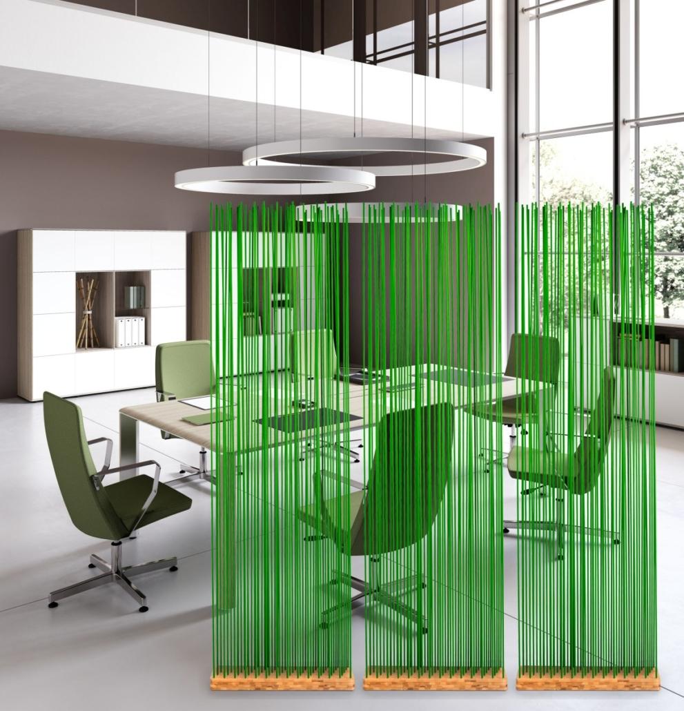 Sichtschutz für den Arbeitsplatz in Grün Besprechungszimmer Tisch und Stühle 991x1030 - Büroeinrichtung modern | Individuelle Premium Möbel