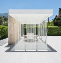 Terrassen und Garten Sichtschutz in Weiß