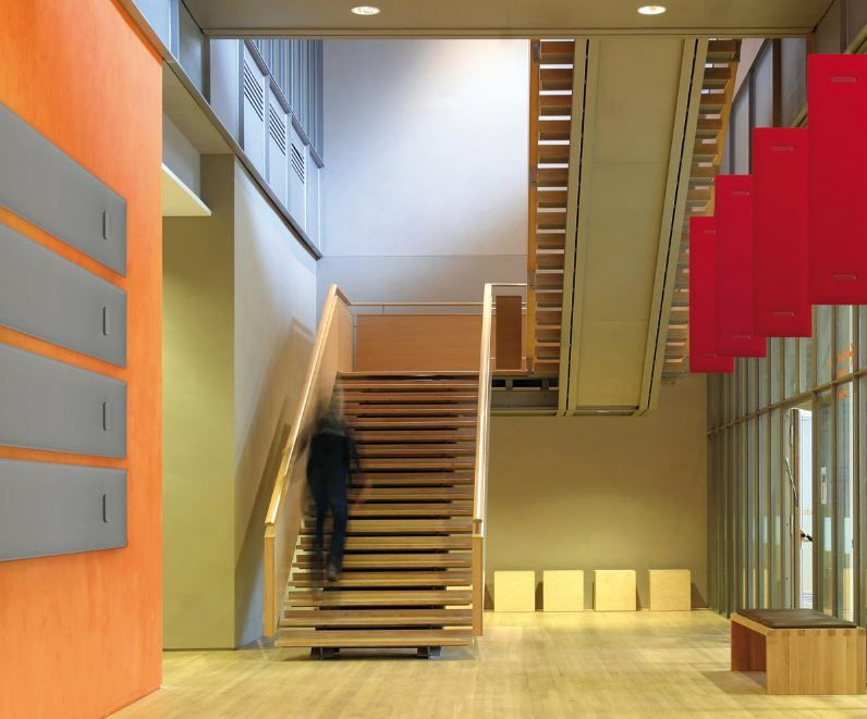 Schallschutz Treppenhaus Arbeitsplatz