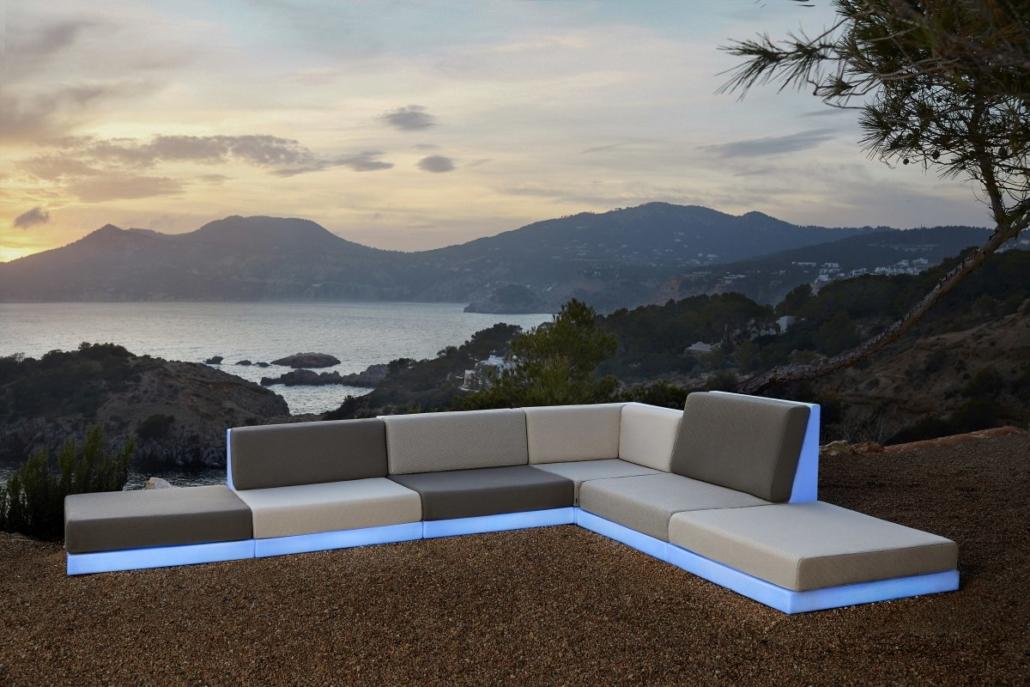 Beleuchtete Outdoor Möbel Terrasse
